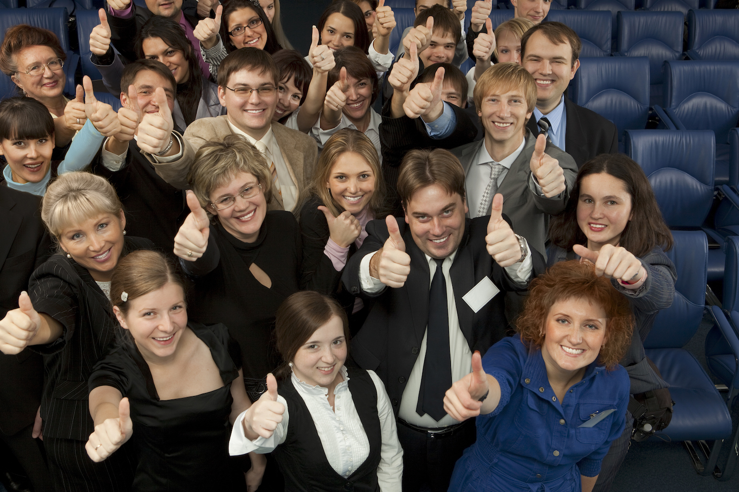 Large Group of Business People Meeting Together